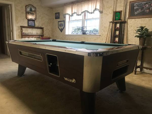 Solo 174 Evansville Valley Bar Pool Table With Accesories 7