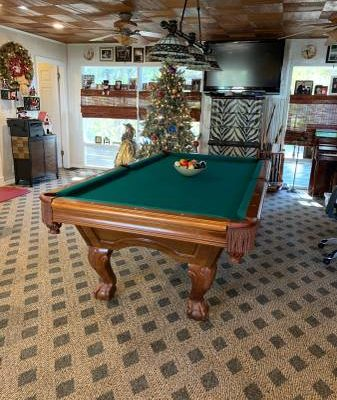 "Regulation Size 3/4 "" Slate Brunswick Pool Table"