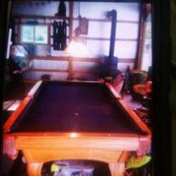 AMF Playmaster Oak Pool Table