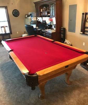 9' Kasson Oak Professional Pool Table