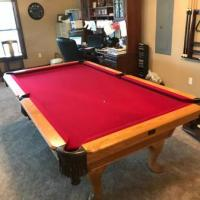 9' Kasson Oak Professional Pool Table