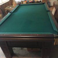 Leather Pocket Pool Table