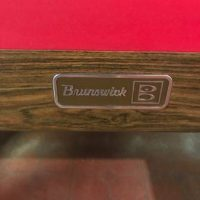 Brunswick Red Felt Pool Table