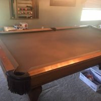 Very Well Built Oak Pool Table